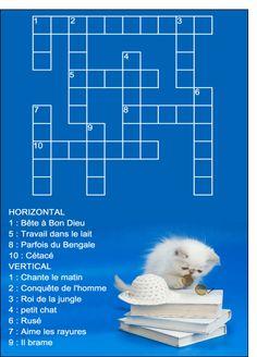 Carte Mots croises petit chat pour envoyer par La Poste, sur Merci-Facteur !
