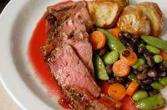 huckleberry steak - Google Search Huckleberry Recipes, Pot Roast, Steak, Dishes, Google Search, Healthy, Ethnic Recipes, Food, Carne Asada