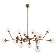 Arteriors Home Dallas Vintage Brass 18 Light Chandelier On SALE