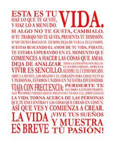 Espanol ... Life-Poster