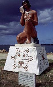 India Taina Statue Puerto Rico Art Print by Antonio Martinho