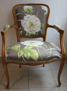 Reupholstered Louis chair