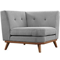 Modway Engage Corner Sofa in Expectation Gray