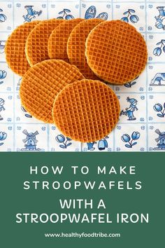 Pick a good stroopwafel iron to make your very own traditional Dutch stroopwafels at home. Make sure you use the right ingredients and process. Waffle Cookies, Candy Cookies, Dutch Recipes, Sweet Recipes, Amish Recipes, Yummy Things To Bake, Yummy Treats, Sweet Treats, Waffle Maker Recipes