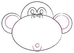 Cómo dibujar una cara de mono de caricatura - wikiHow