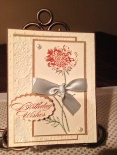 Elegant card stampin up