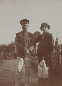 "Tsar Nicholas ll of Russia with his eldest child,the Grand Duchess Olga Nikolaevna Romanova of Russia in 1913. ""AL"""
