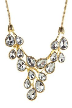 Crystal Droplets Cluster Necklace by t+j Designs
