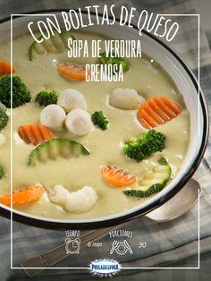 Para la comida de hoy te recomendamos una Sopa de verdura cremosa. ¡Exquisita!