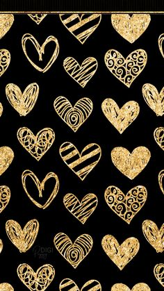 Gold Hearts Wallpaper 30 Black And Gold Digital Papers Gold Glitter Seamless Glitter Phone Wallpaper, Flower Phone Wallpaper, Gold Wallpaper, Heart Wallpaper, Cellphone Wallpaper, Galaxy Wallpaper, Black Glitter Wallpapers, Chevron Wallpaper, Wallpaper Corazones