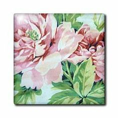 """Abstract Pink Floral - 12 Inch Ceramic Tile by Florene. $22.99. High gloss finish. Clean with mild detergent. Dimensions: 12"""" H x 12"""" W x 1/4"""" D. Image applied to the top surface. Construction grade. Floor installation not recommended.. Abstract Pink Floral Tile is great for a backsplash, countertop or as an accent. This commercial quality construction grade tile has a high gloss finish. The image is applied to the top surface and can be cleaned with a mild detergent."""