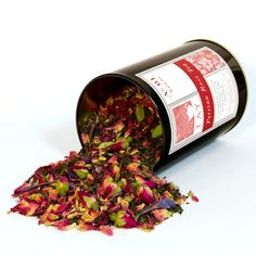 Persian Rose Tea   $16. A nostalgic blend of ceylon bergamot scented tea blended with rose petals, organic rose buds, green cardamom and borage. Available at: manykitchens.com