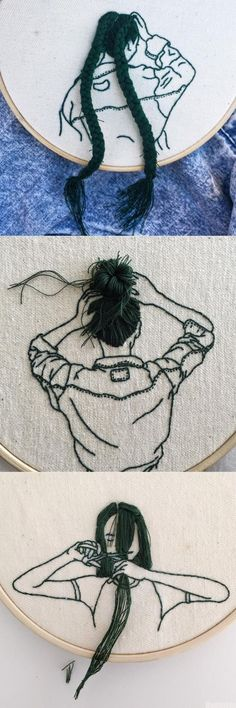 Embroidery Rose that Embroidery Patterns How To when Embroidery Stitches Design opposite Embroidery Designs By Hand For Beginners by Embroidery Hoop Jewelry Holder Embroidery Art, Embroidery Patterns, Embroidery Fashion, Embroidery Stitches, Machine Embroidery, Sewing Patterns, Bordados E Cia, String Art, Diy Art