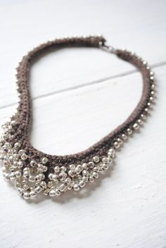 Crochet jewerly/ I could possibly do this with wire.