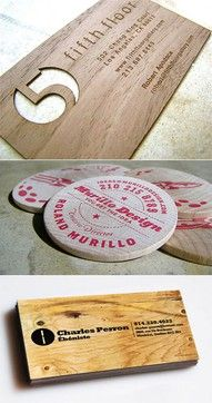wood design/DIY Business cards <3