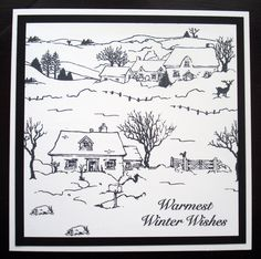 Handmade Card by Georgina Ford Christmas Images, Christmas Art, Christmas 2016, House Mouse Stamps, Country Scenes, Create And Craft, Xmas Cards, Christmas Inspiration, Clear Stamps