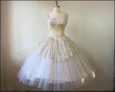 Vintage 1950's Fairy Princess Wedding Dress