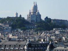 Sacre Coeur from Centre Pompidou Sacred Heart, Taj Mahal, Centre, Paris, Adventure, City, Building, Travel, Montmartre Paris