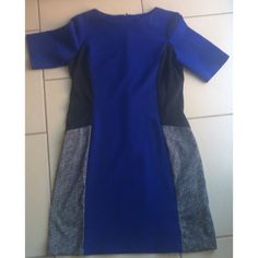 ‼️SALE‼️Navy blue color block dress Really nice color block dress with navy blue, black, and a white/black design perfect for work or going out. On sale only this weekend Dresses
