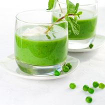 Spring Onion, Pea and Mint Soup Recipe