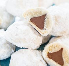 Chocolate Kiss Powder Puff Cookies -- 25 Hershey's Kisses Recipes That'll Get You Chocolate Wasted