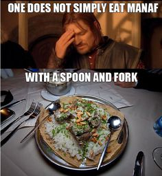 One does not Simply Eat Mansaf