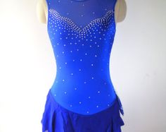 Custom Figure Skating Competition Dress -- 'Penelope' in Royal