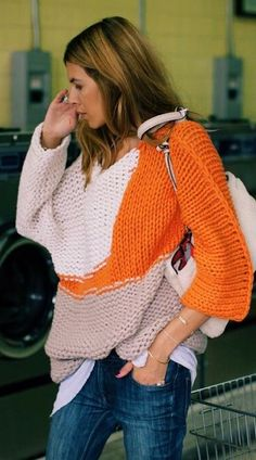 Colorful Chunky Sweater Fall Inspo by MAJA WYH (Diy Clothes Sweater)