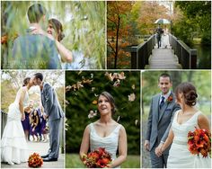 Fall wedding pictures in packanack lake new jersey - Photographed by Justin Tinapay