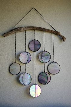 Moon Phase Hanging // Celestial Art // Moon Phase Wall Decor