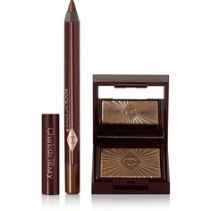 Charlotte Tilbury Nocturnal Cat Eyes to Hypnotise - The Huntress ($39) ❤ liked on Polyvore featuring beauty products, makeup, eye makeup, bronze, eye shimmer makeup, kohl pencil eyeliner, black makeup, shimmer makeup and pencil eyeliner
