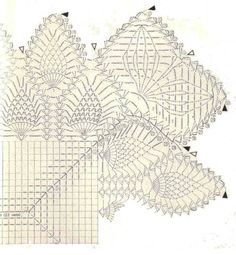 Free Crochet Patterns of TABLE CENTER BEDLAM Crochet Tablecloth Pattern, Crochet Doily Diagram, Crochet Doily Patterns, Crochet Chart, Crochet Squares, Thread Crochet, Crochet Motif, Free Crochet, Temari Patterns