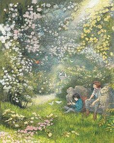 Illustration by Inga Moore for Frances Hodgson Burnett's 'The Secret Garden'