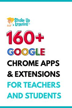 I have put together a Google Chrome App and Extension Database for Teachers that is loaded with apps and extensions for productivity and classroom integration. Google Chrome can be customized to fit the needs of our student learners. Click here to learn more about Google Chrome Apps and Extensions to use for distance learning
