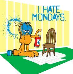 Garfield Mondays Garfield Monday, Garfield Quotes, Garfield Cartoon, Garfield And Odie, Garfield Comics, Garfield Pictures, Classic Cartoon Characters, Favorite Cartoon Character, Bon Weekend