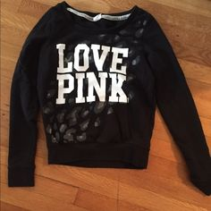 A pink sweater It is very light and comfortable. A little on the small side might fit an xs as well. PINK Victoria's Secret Jackets & Coats