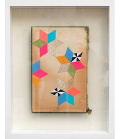 Lisa-congdon | cut paper on vintage book cover, 2011