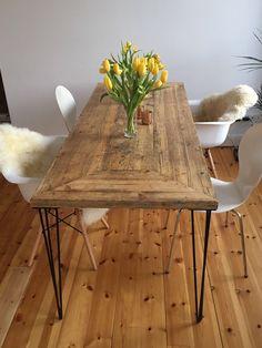 tisch im landhaus stil aus bauholz svenja 180x90cm franz sisches landhaus der traum und esstische. Black Bedroom Furniture Sets. Home Design Ideas