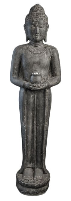 Boeddha staand met waxinelicht