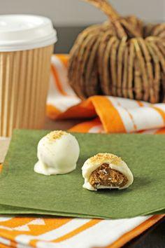 Somehow forgot to pin this earlier....Pumpkin Spice Latte Truffles. Yum!
