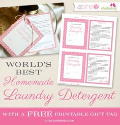 Gifting The World's Best Homemade Laundry Detergent – FREE PRINTABLE