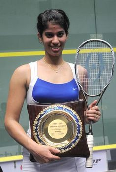 Joshna Chinappa is an Indian squash player.