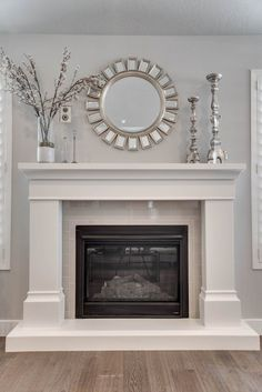 Beckham Stone Fireplace Mantel   Etsy #TileEffectLaminateFlooring Stone Fireplace Mantel, Fireplace Surrounds, Fireplace Design, Fireplace Ideas, Mantel Ideas, Stone Fireplaces, Above Fireplace Decor, Fireplace Makeovers, Fireplace Pictures