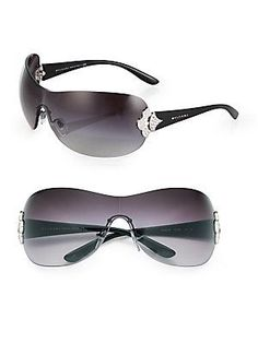 91da49567f BVLGARI - Embellished Shield Sunglasses