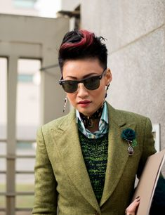 """street style, Esther Quek, Milan"""