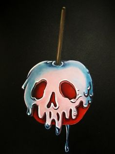 "Disney's Snow White Inspired ""Poisoned Candied Apple"" Original Painting"