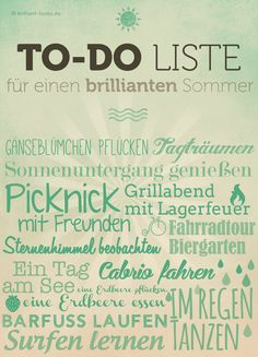To-Do Liste für einen brillianten Sommer - Brilliant Looks