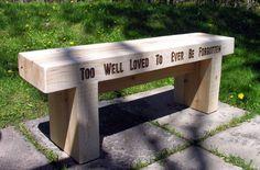 Reversible White Cedar Garden Bench