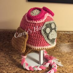 Skye Hat crochet pattern https://www.etsy.com/listing/266057025/crochet-hat-patterns-inspired-by-paw?ga_order=most_relevant&ga_search_type=all&ga_view_type=gallery&ga_search_query=Paw%20Patrol%20hat%20pattern&ref=sr_gallery_2