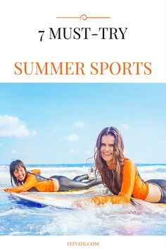 Try these 7 sport activities which could turn out to be real adventures you will remember for months after.  As a little bonus – we have also included a complementary exercise recommendation to every section to help you achieve an all-round level of fitness. Find out more at  https://fitvize.com/2016/07/19/7-must-try-summer-sports/